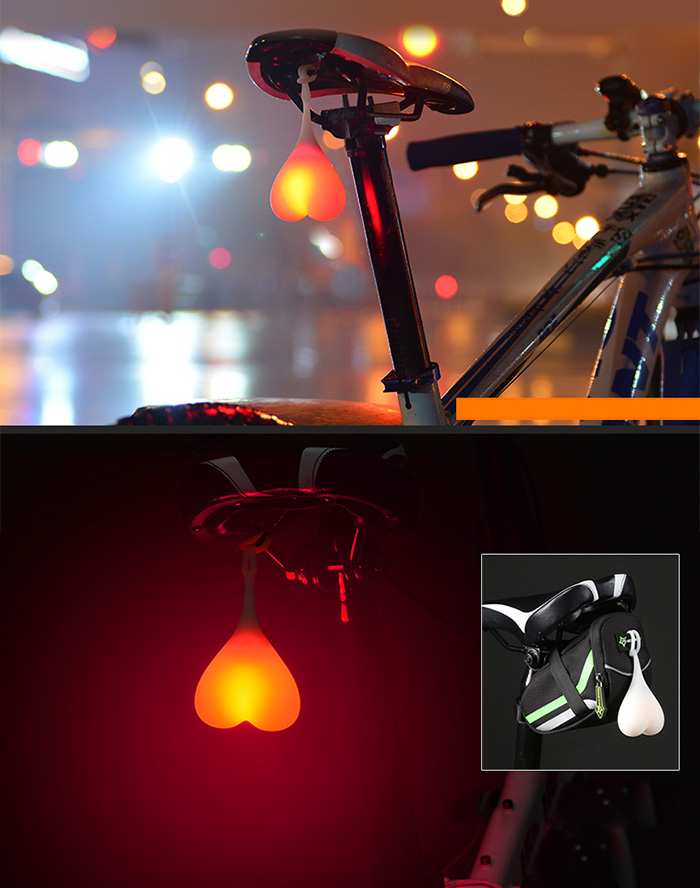 Cycling Balls Tail Silicone Light Creative Bike Waterproof Night Egg Lamp SQ