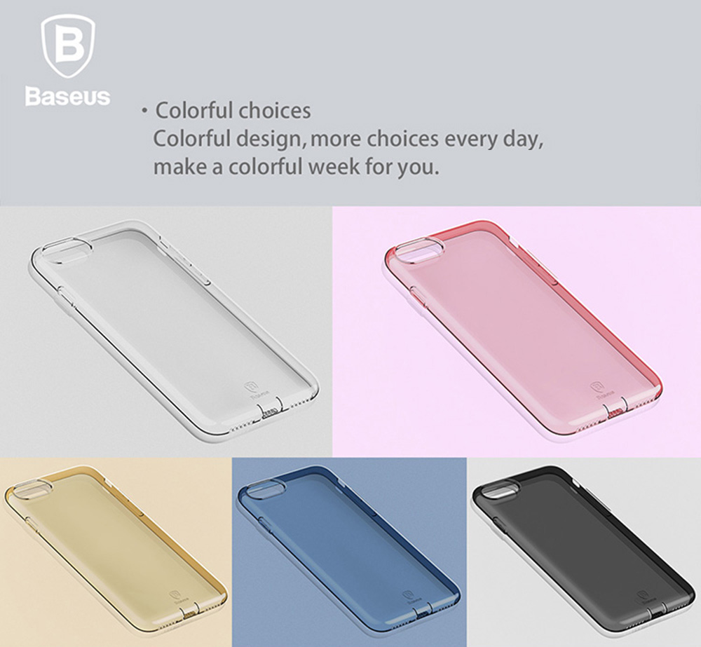 Baseus 47 Inch Protective Phone Cover For Iphone 7 216 Free Simple Case Anti Shock Soft Tpu Ultra Thin Transparent Dustproof Mobile Back