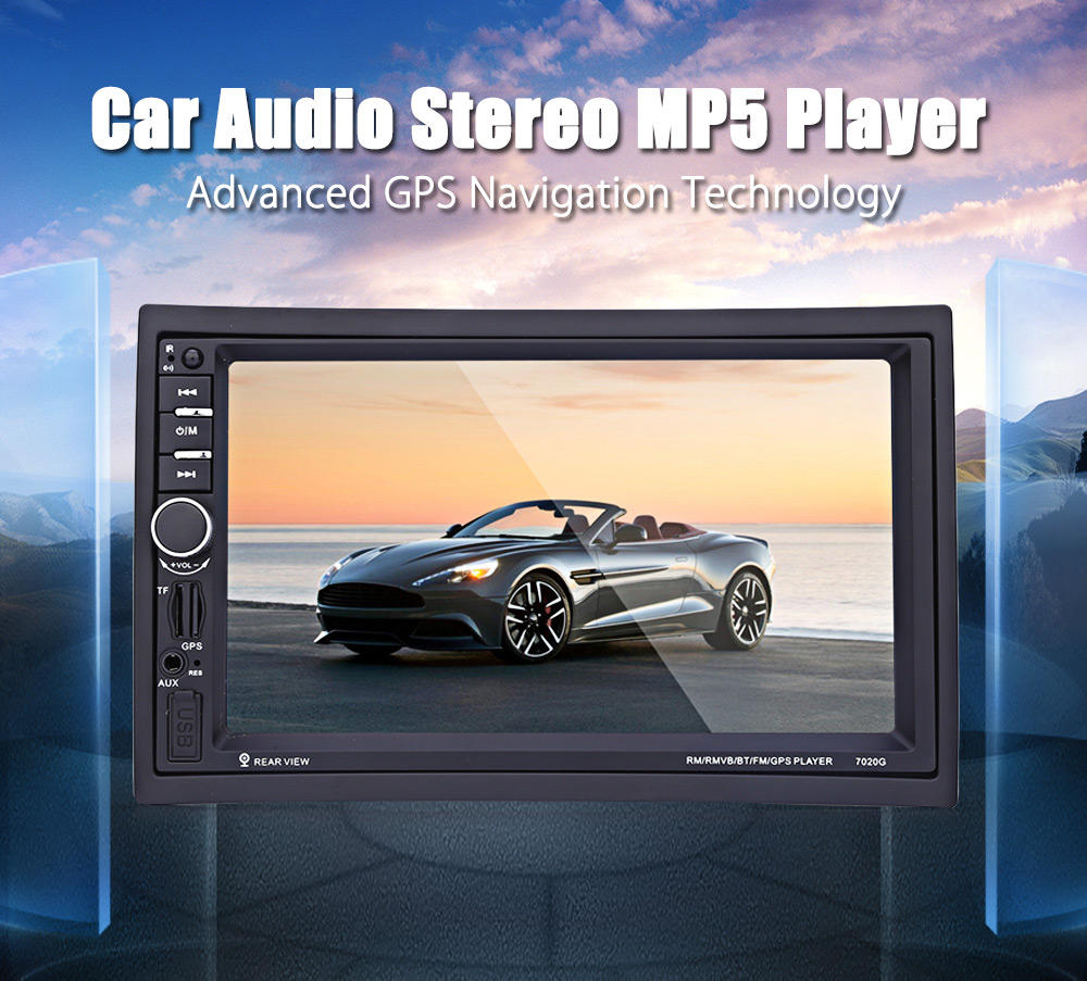 Gearbest Uk 7020g 7 Inch Car Audio Stereo Mp5 Player Gps System Box Modul Mp3 Plus Aksesories 12v Auto Video Remote Control Navigation Function