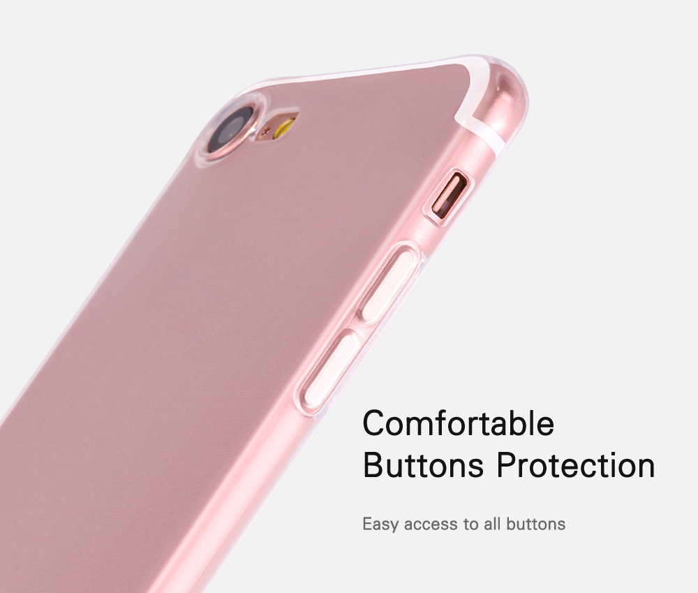 HOCO Soft Touch Flexible Transparent TPU Back Case for iPhone 7