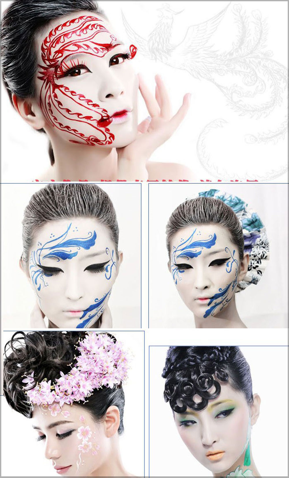 8 Color Environmental Protection Non-toxic Water Makeup Face Halloween Paint Color Devil Fans
