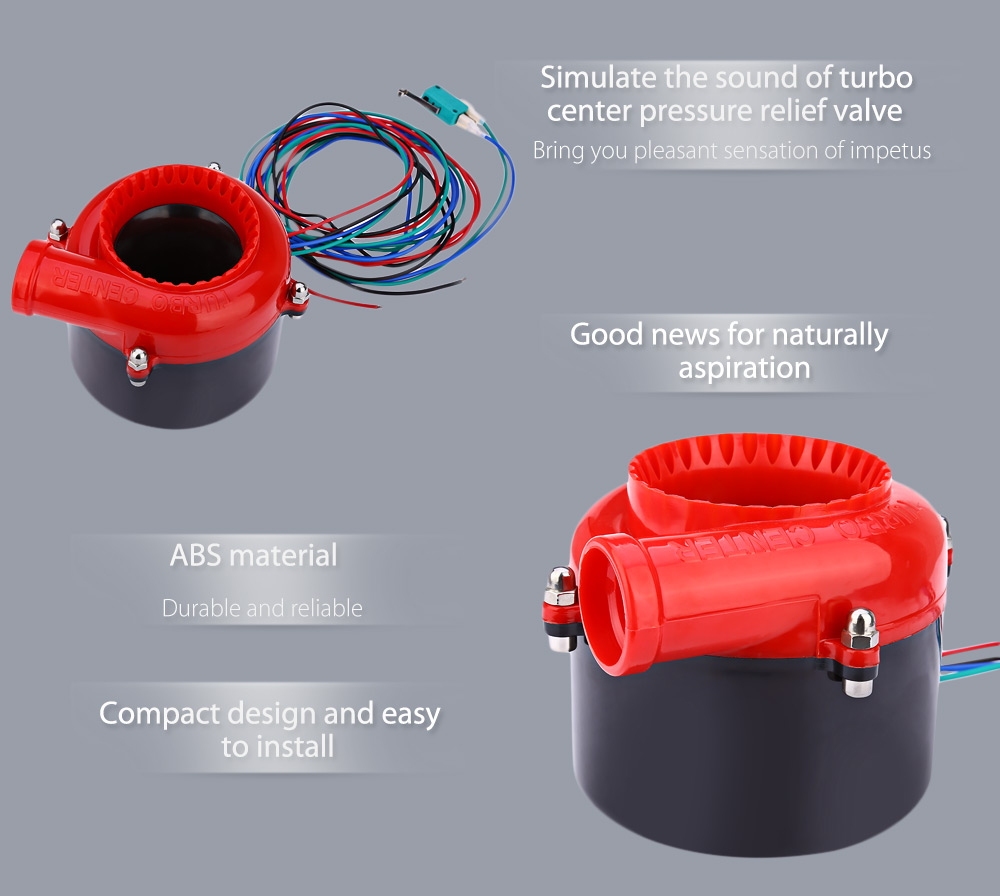 Car Electronic Horn Speaker Pressure Relief Valve 1908 Free Universal Automobile Turbo Center Red