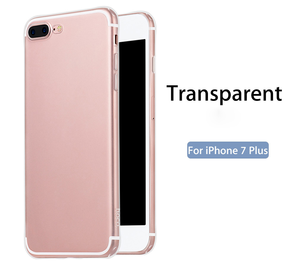 HOCO Soft Touch Flexible Transparent TPU Back Case for iPhone 7 Plus