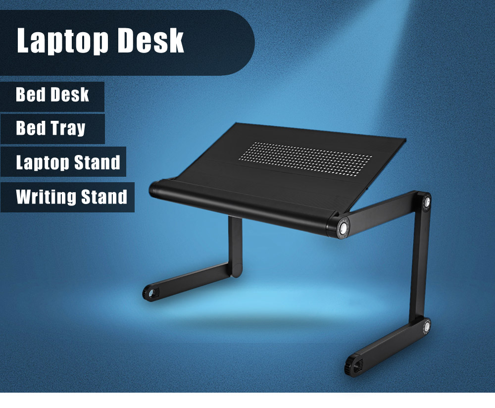 OMAX K6 Portable Laptop Desk Folding Table Vented Stand $31 11