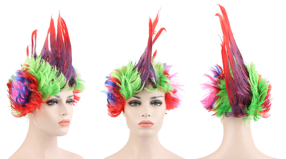 Funny Large Colorful Mohawk Wig Carnival Dance Masquerade Halloween Christmas Cosplay Party