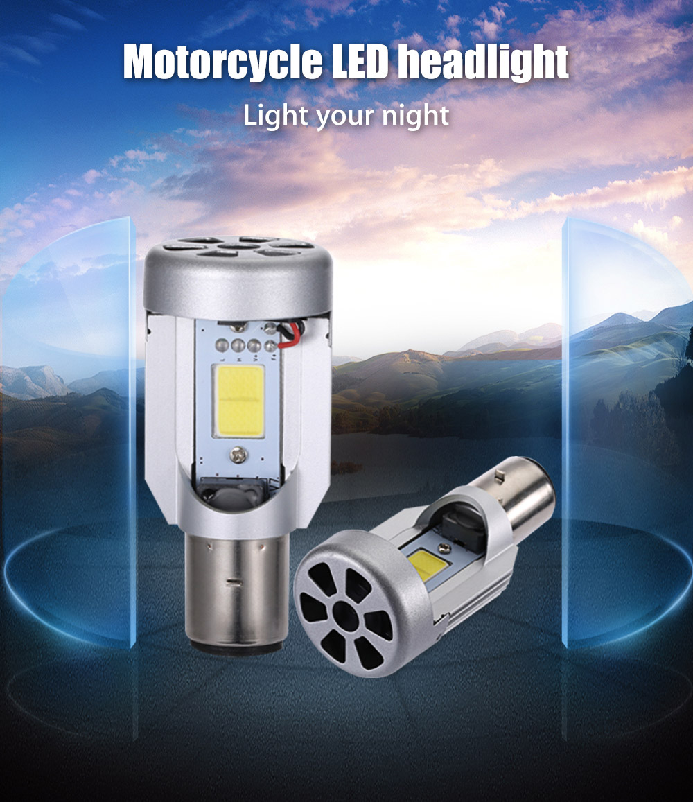 Paired Motorcycle M2 20W Integrated LED Vehicle Headlight Heat Vibration Resistance Dissipation