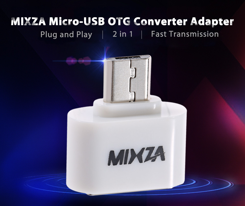 MIXZA 2 in 1 OTG USB 2.0 to Micro-USB Converter Adapter for Android System