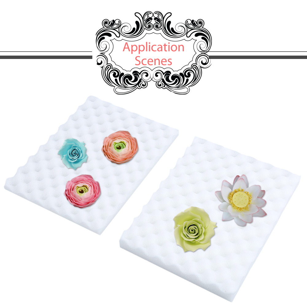 2pcs Cake Decorating Tool Fondant Flower Drying Holder Sponge Dry Foam Pad Baking Mold