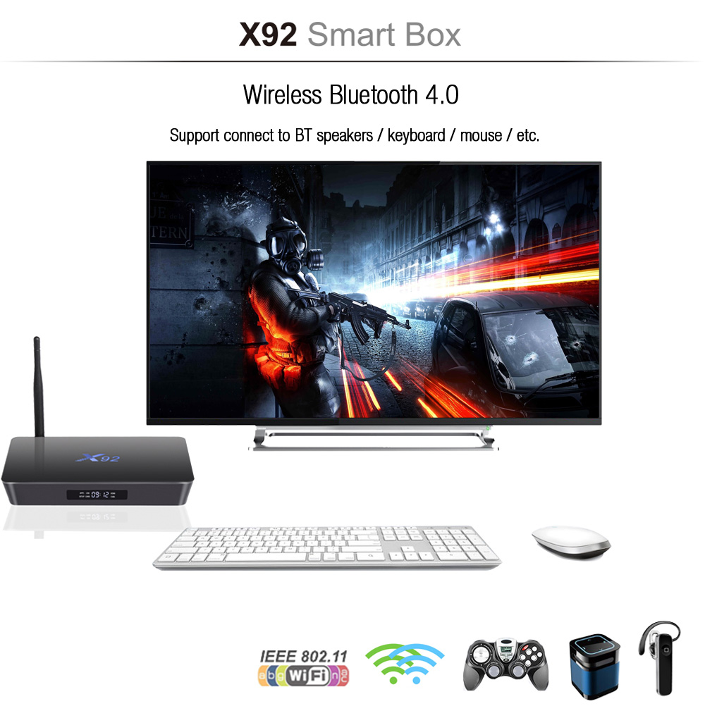 meilleur prix x92 set top box android tv en ligne lecteur code promo gearbest banggood. Black Bedroom Furniture Sets. Home Design Ideas