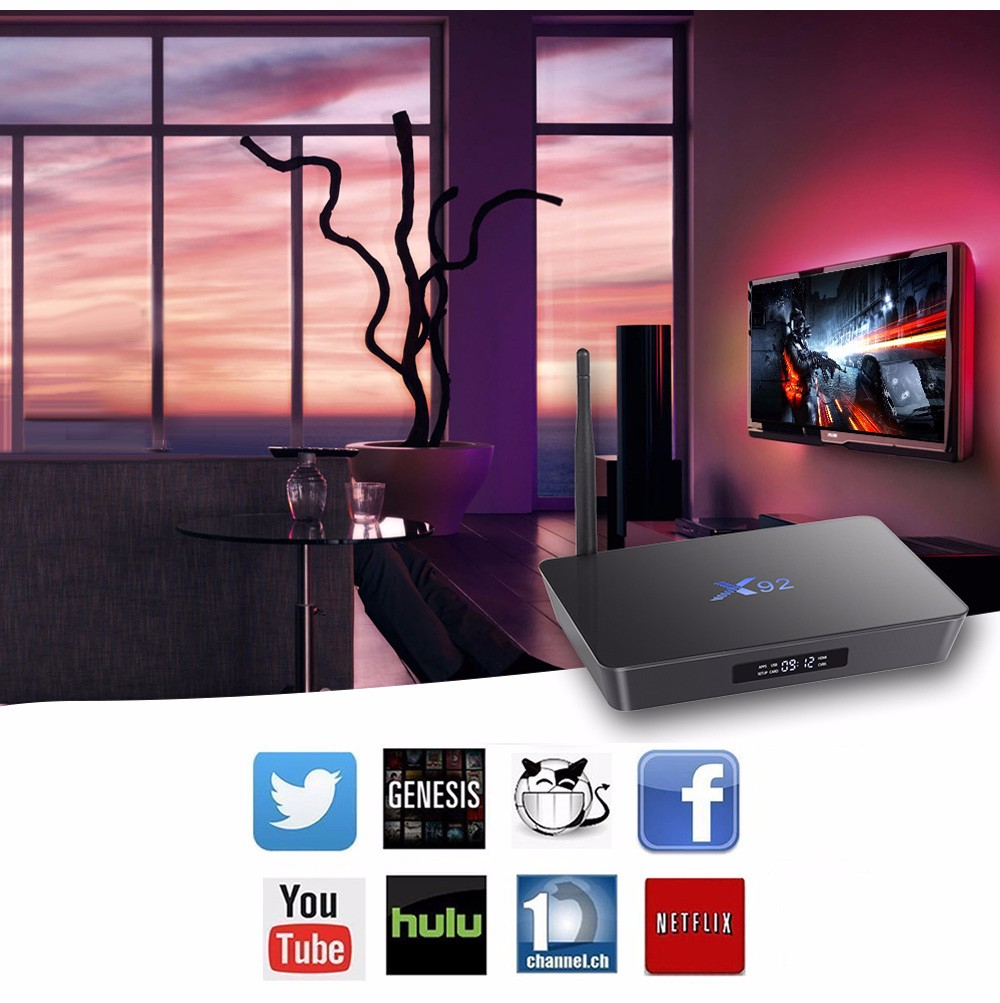 X92 TV Box Amlogic S912 Octa-core Cortex-A53 Real-time Display Online Player 2.4GHz / 5.8GHz WiFi HD Connectivity