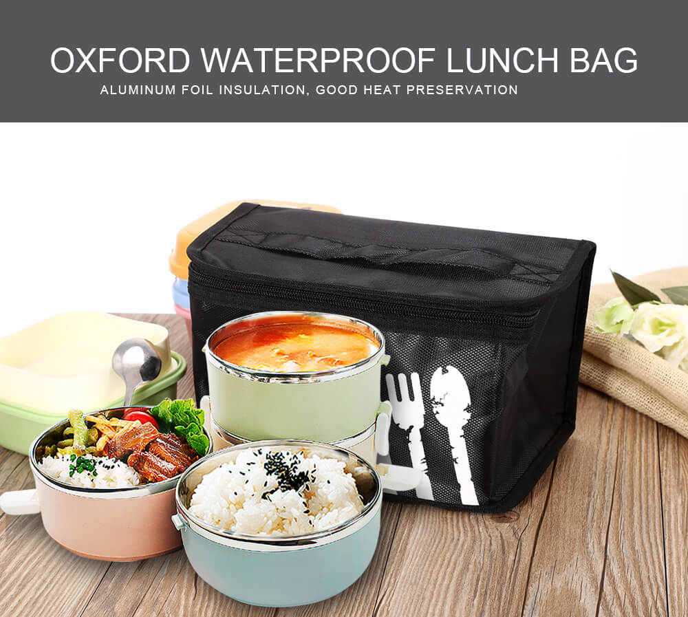Bangduo Aluminum Foil Insulation Oxford Waterproof Lunch Box Handbag