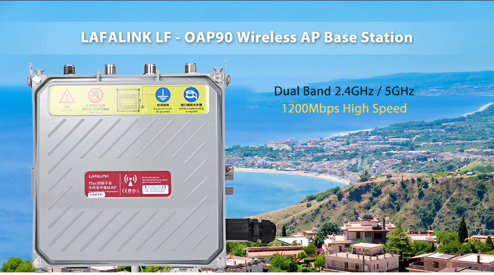LAFALINK LF - OAP90 1200Mbps Dual Band 2.4GHz / 5GHz Gigabit Outdoor Wireless AP Base Station