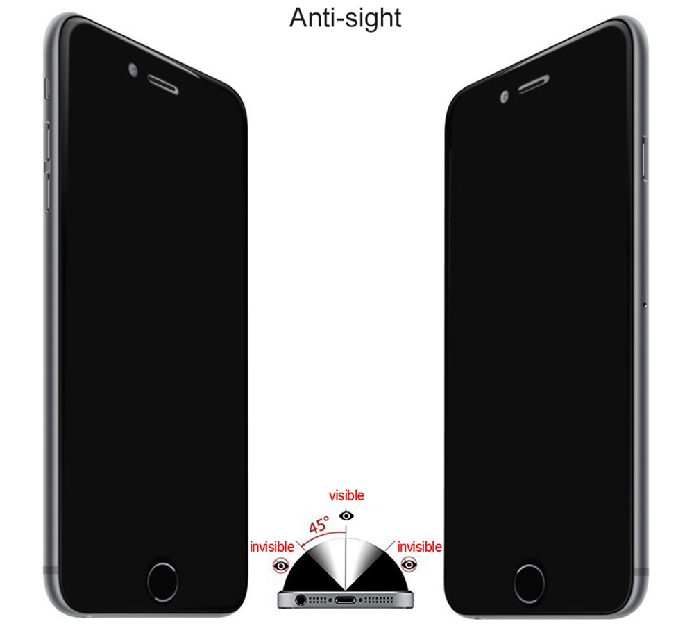 Anti-sight 9H Tempered Glass Film Screen Protector for iPhone 7 Plus 0.33mm