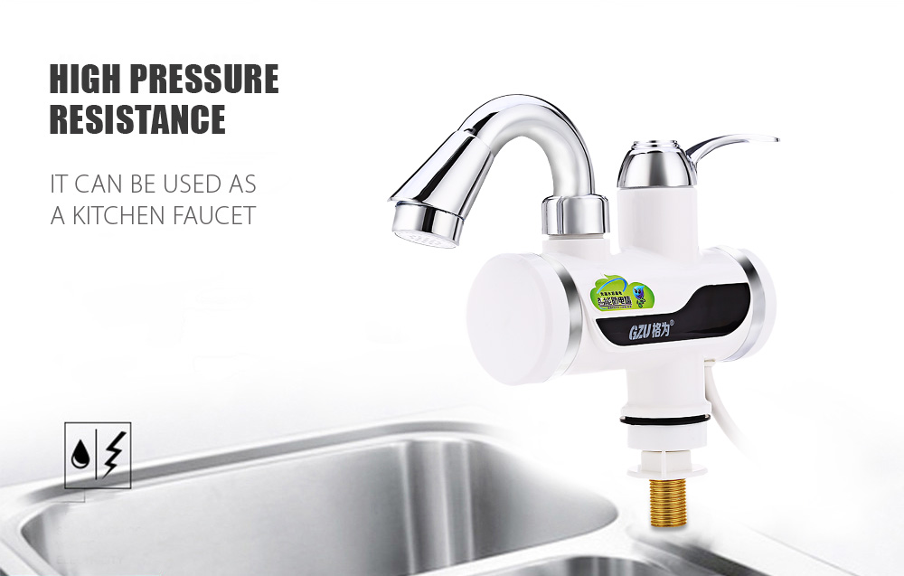 GZU ZM - D4 Rapid Water Heating Faucet with Shower Head - $50.62 ...