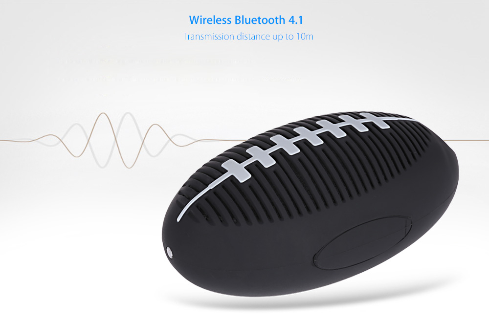 GACIRON BT - S Portable Outdoor Water-resistant Rugby-shaped Bluetooth 4.1 Speaker with LED Light