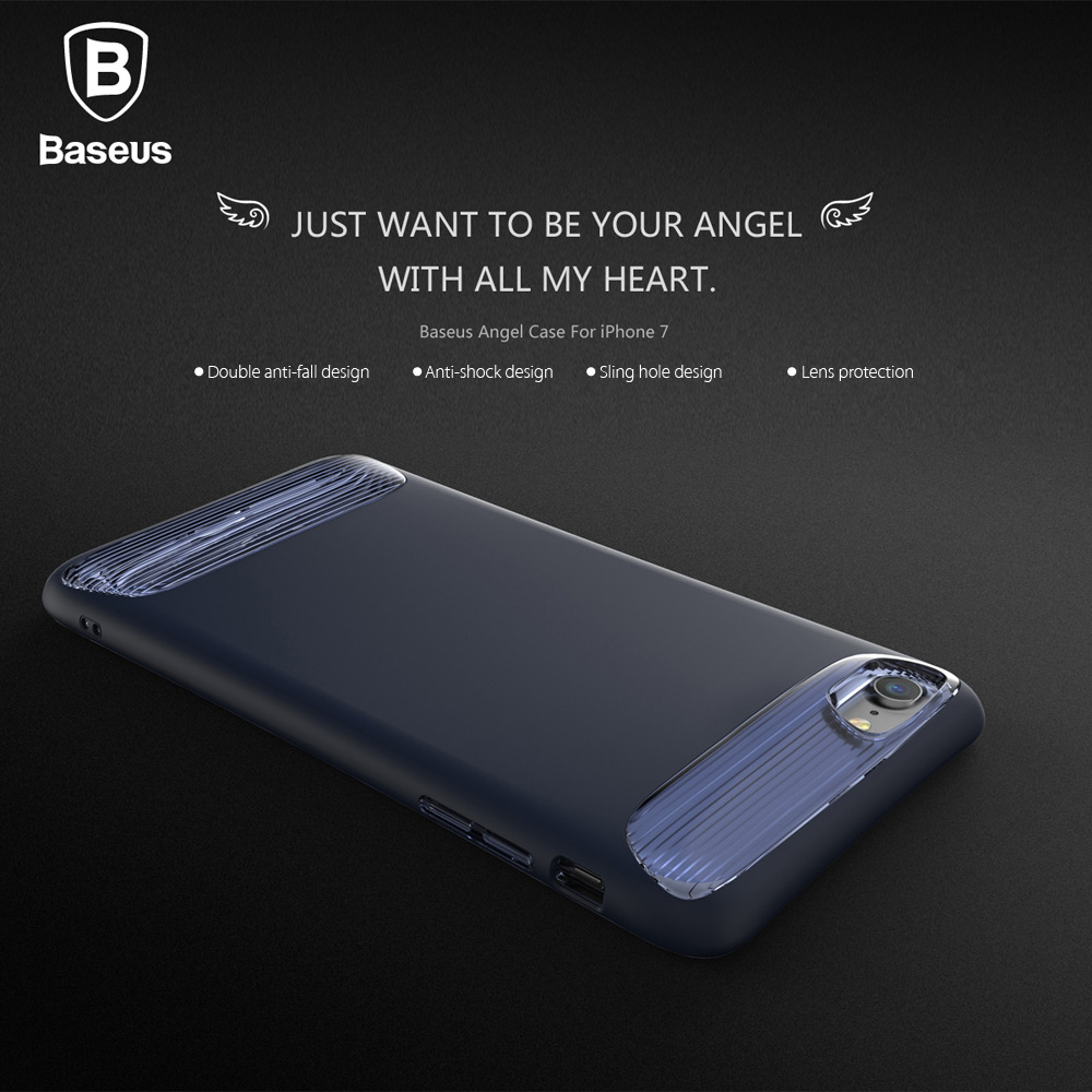 Baseus Angel Case Double Anti-fall Protective Skin for iPhone 7 4.7 inch
