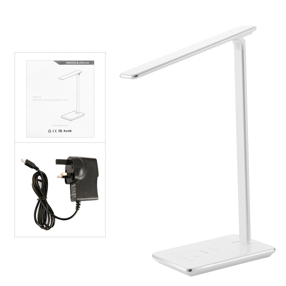 Lightme LED Desklamp Table Light with Wireless Charger Adjustable Brightness
