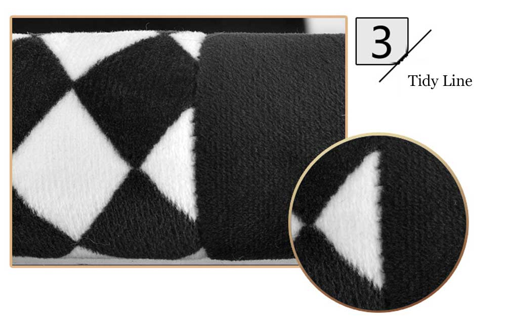 Casual Winter Rhombus Design Warm Car Steering Wheel Cover