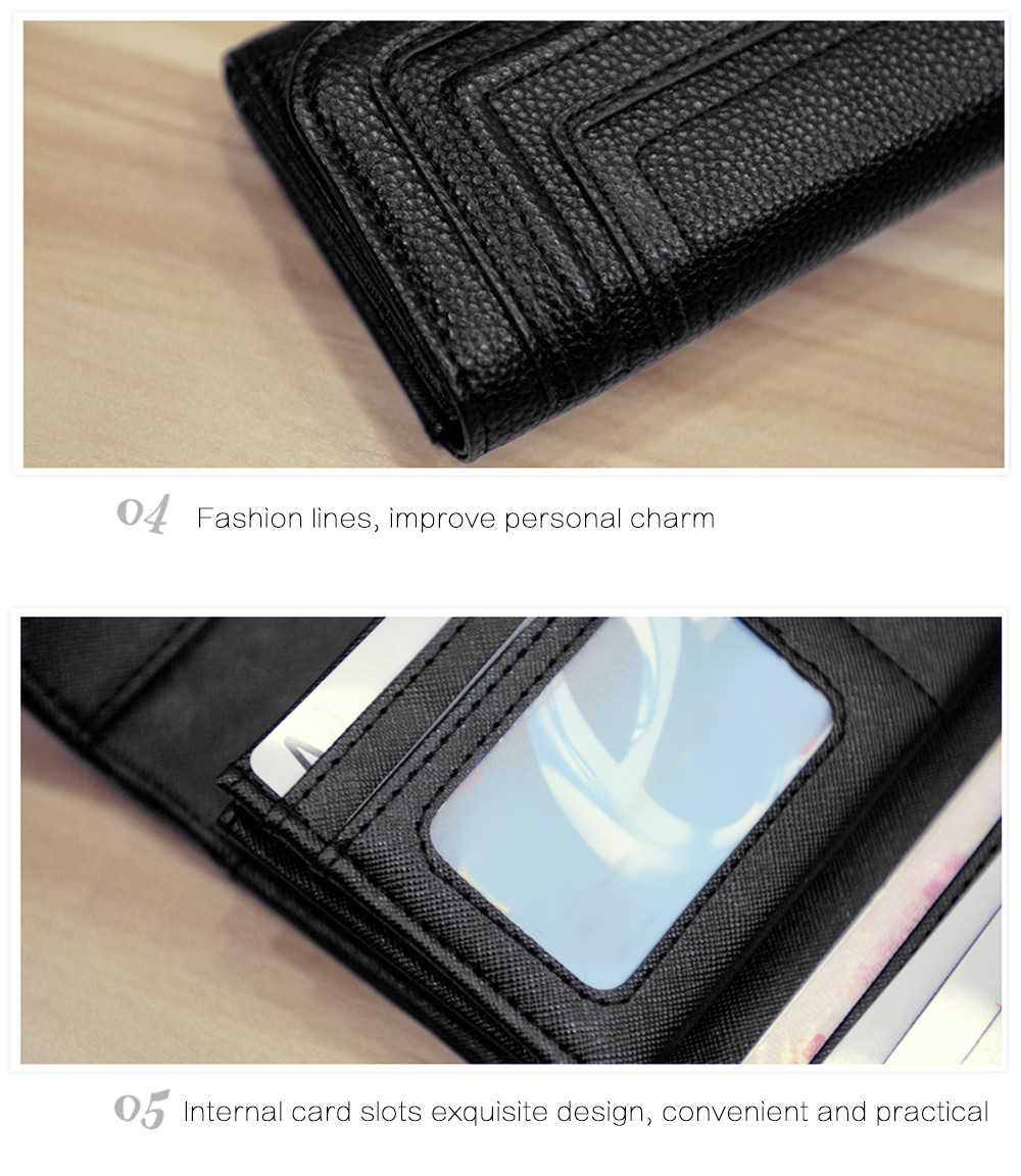 Snap Button Checkbook Wallet with Card Slot