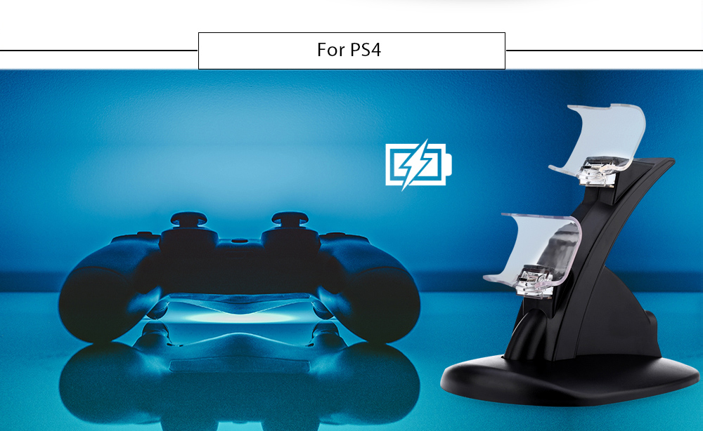 Dual Micro Port Charger Charging Stand for PS4 Joystick