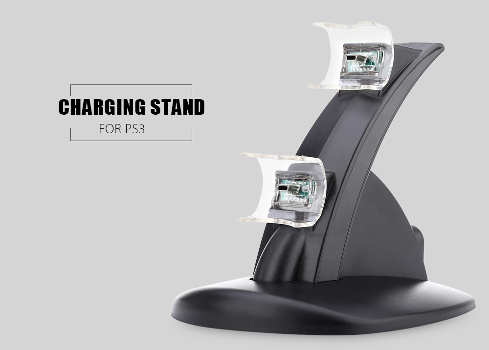 Dual Micro USB Charger Charging Stand for PS3 Joystick