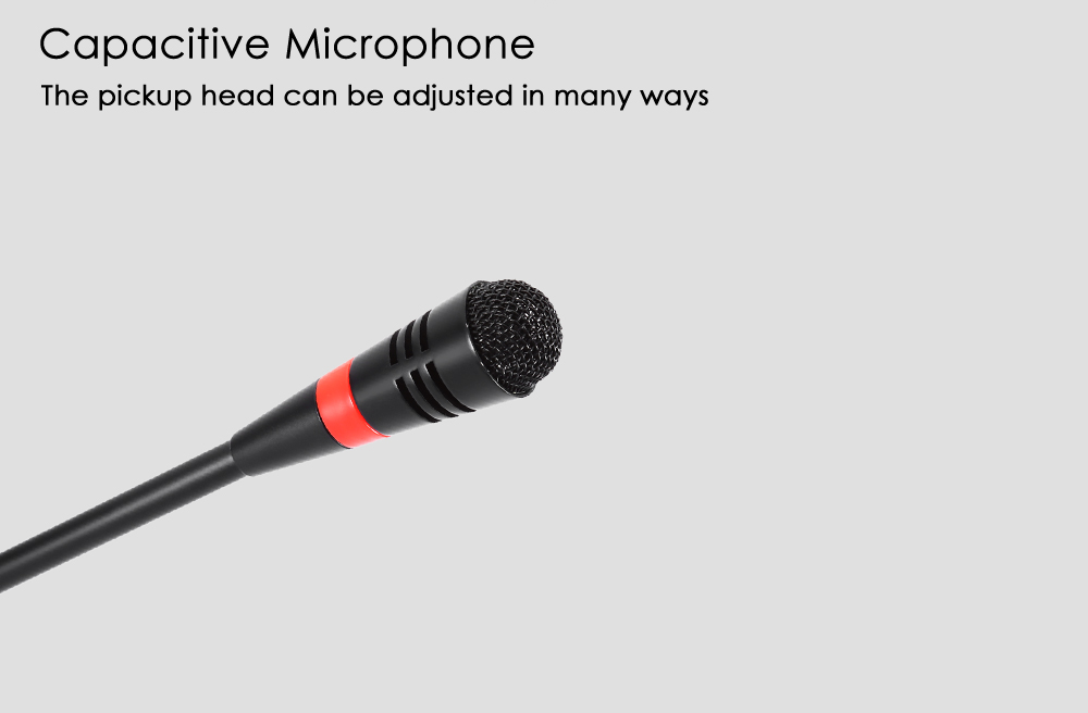 WEISRE M - 580 Wired Capacitance Microphone Noise Canceling Mic- Black