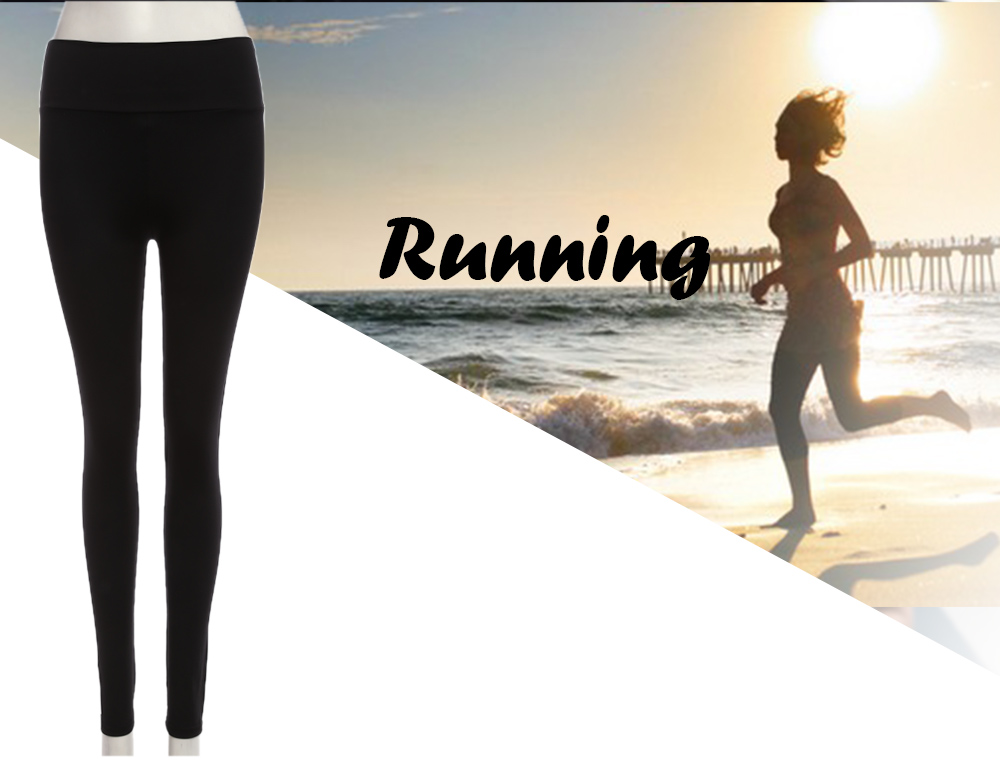 Women Sports Yoga Fitness Candy Color Elastic Pants Exercise Tights Slim Legging