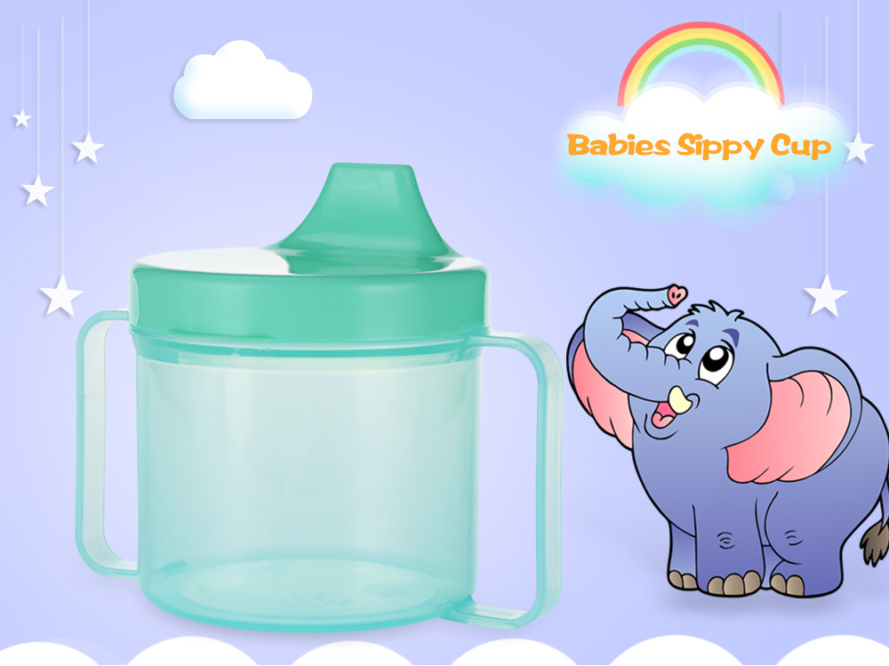 Candy Color PP Material Babies Sippy Cup