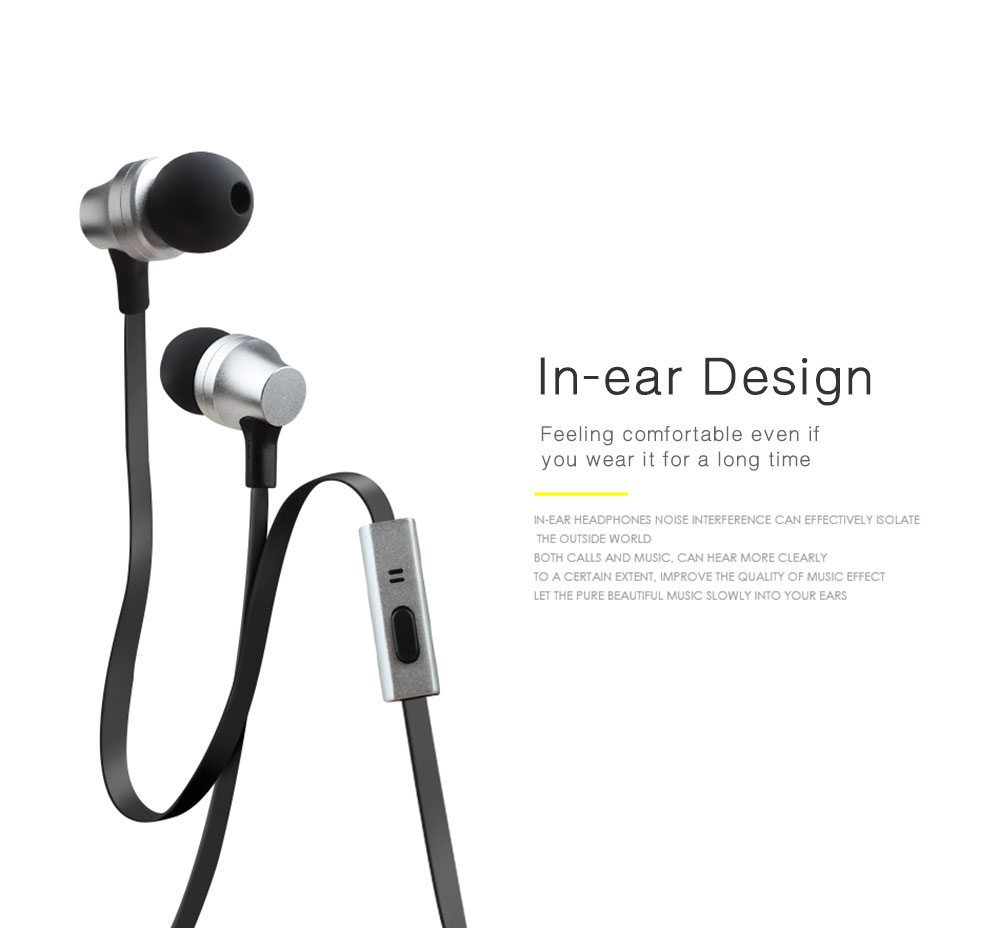 AWEI ES910i 3.5MM Plug Stereo Music Earphones Headphones