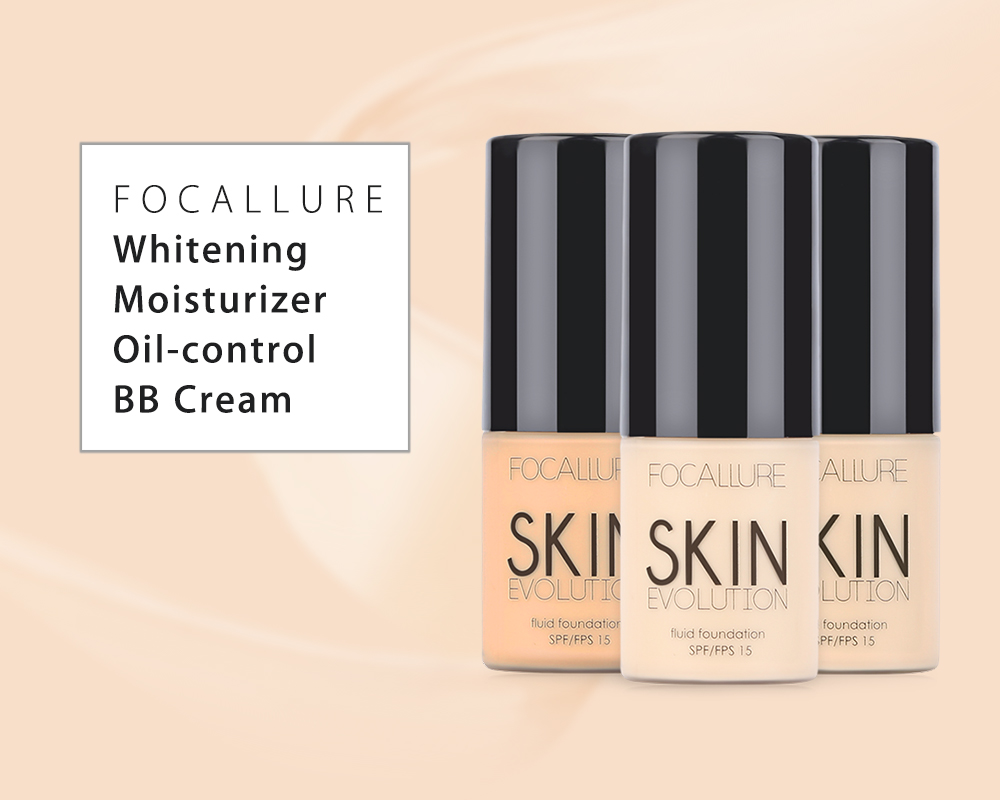 FOCALLURE Face Foundation Makeup Base Liquid Foundation BB Cream- 01