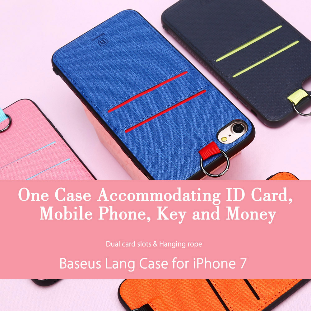 Baseus Lang Series PU Protective Skin Dual Card Slot for iPhone 7
