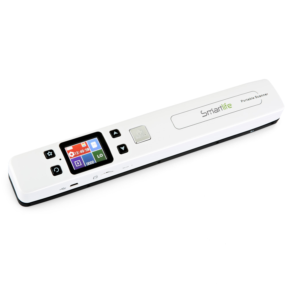 Smartlife Portable Wireless Scanner Magic Wand with Color LCD Screen Micro SD Card Reader