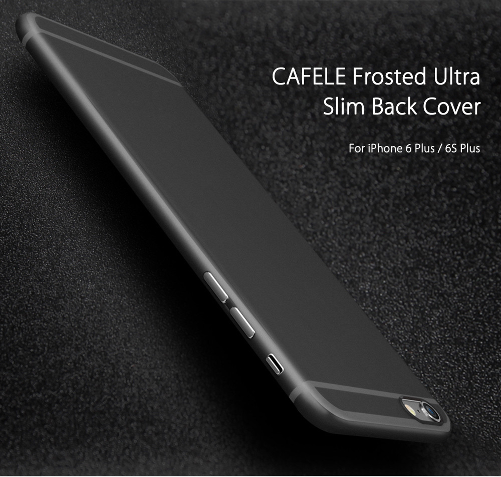 3bcc928fee CAFELE Frosted Anti-fingerprint Ultra Slim Back Cover for iPhone 6 Plus / 6S  Plus