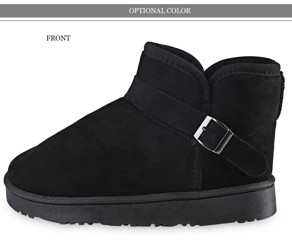 Casual Solid Color Thickening Warm Snow Boots for Women