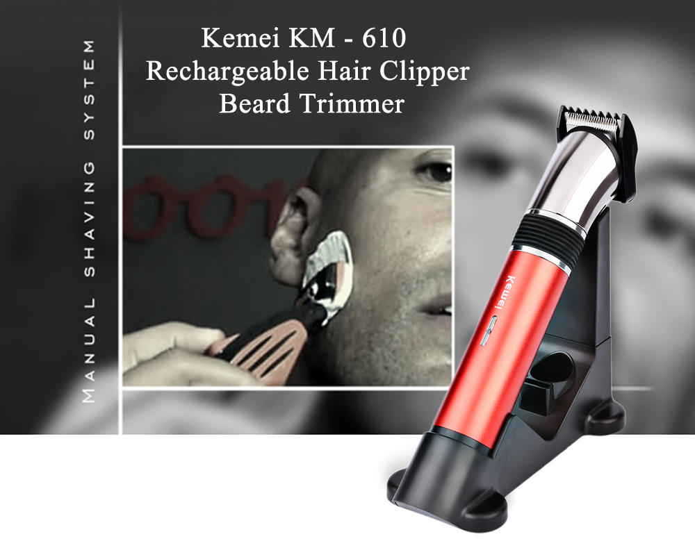 kemei km 610 rechargeable hair clipper beard trimmer eu plug online shopping. Black Bedroom Furniture Sets. Home Design Ideas