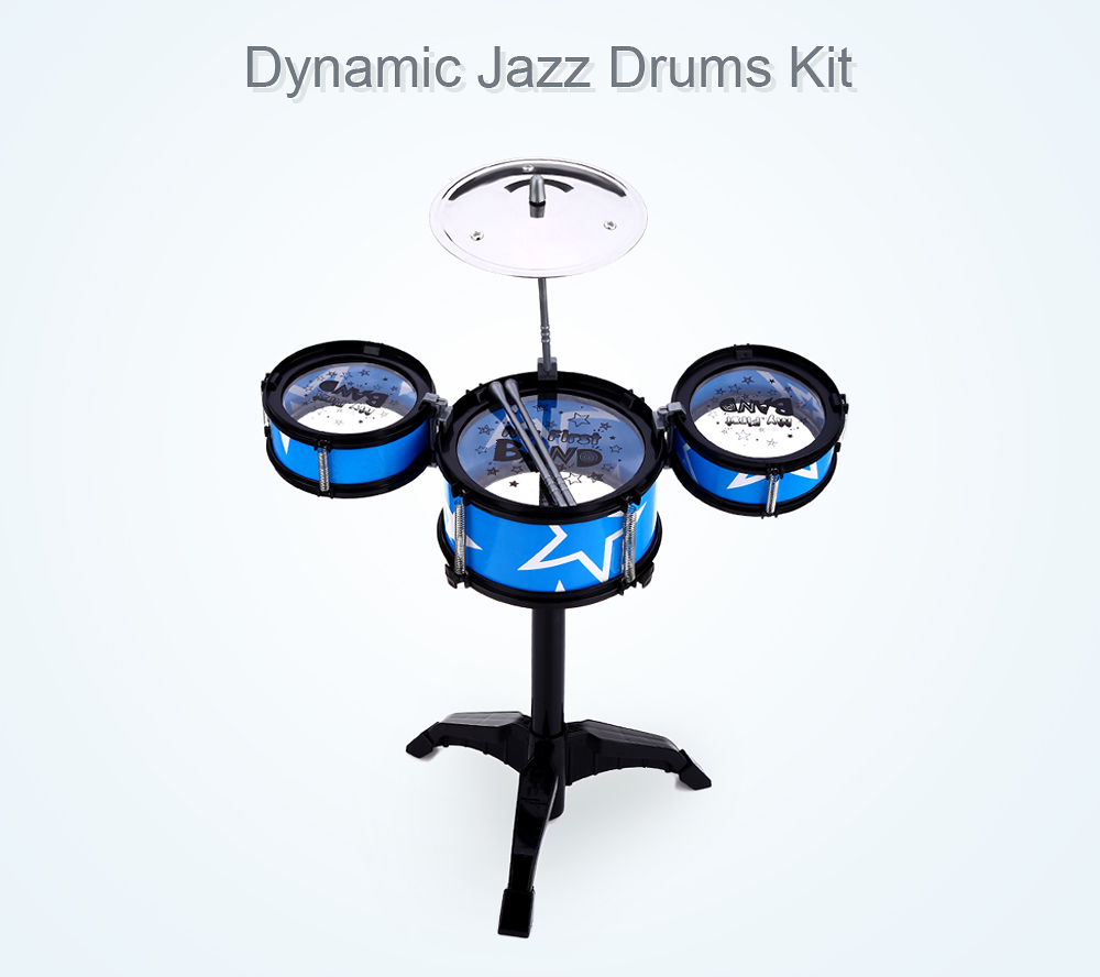 Wanyi Kids Deluxe Jazz Drums Kit Musical Instrument Toy with Cymbal Stool Gift