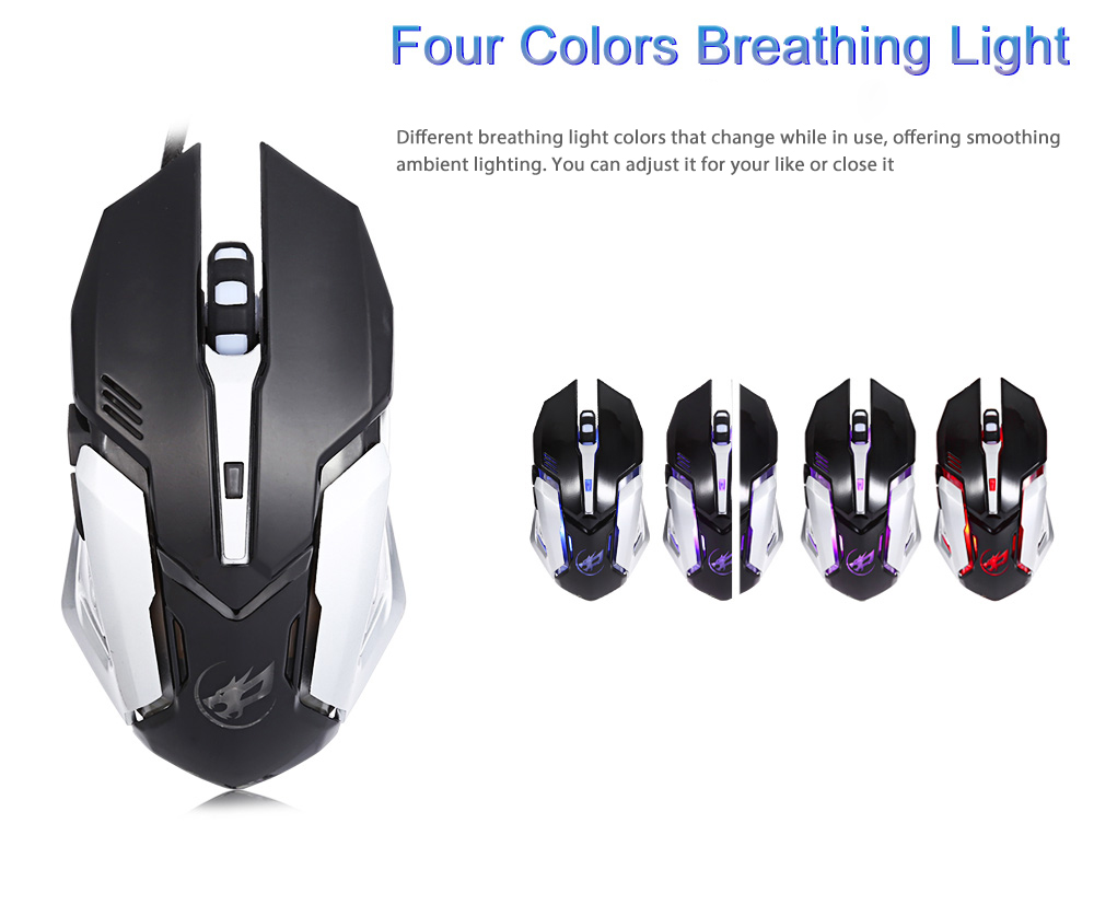 Warwolf T1 Optical Wired Macro Definition Gaming Mouse 868 Free Arduino Radar How To Fade An Led With Your Breath Open Electronics Package Contents 1 X