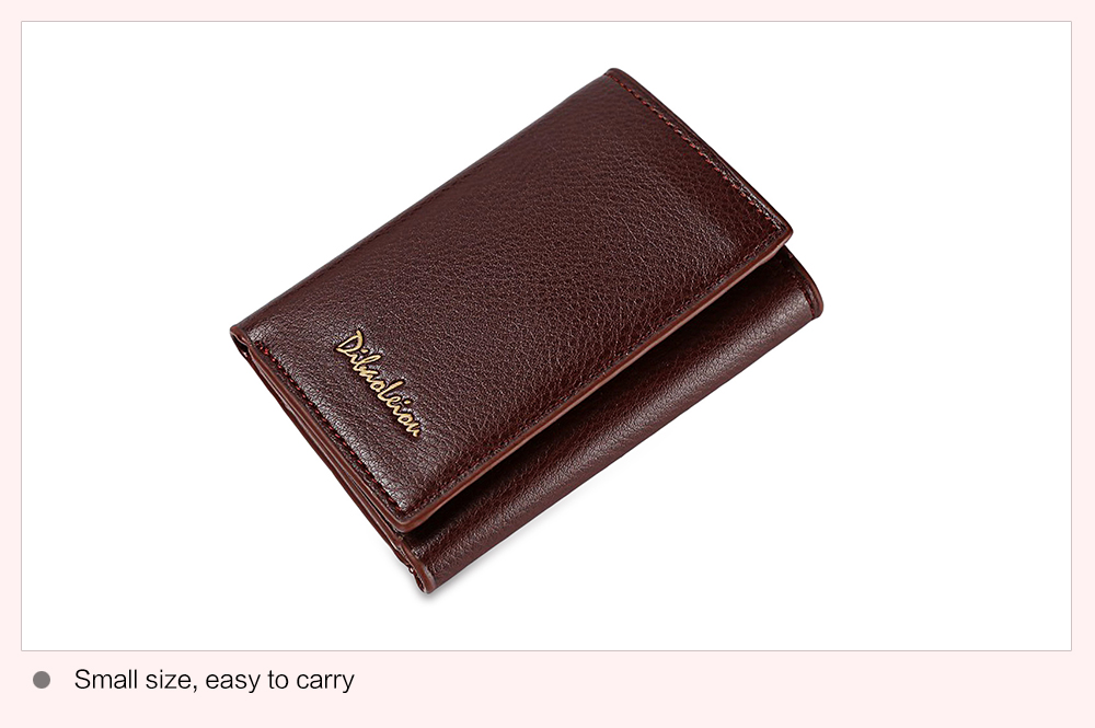 Dibaoleiou Photo Cash Card Holder Unisex Short Wallet