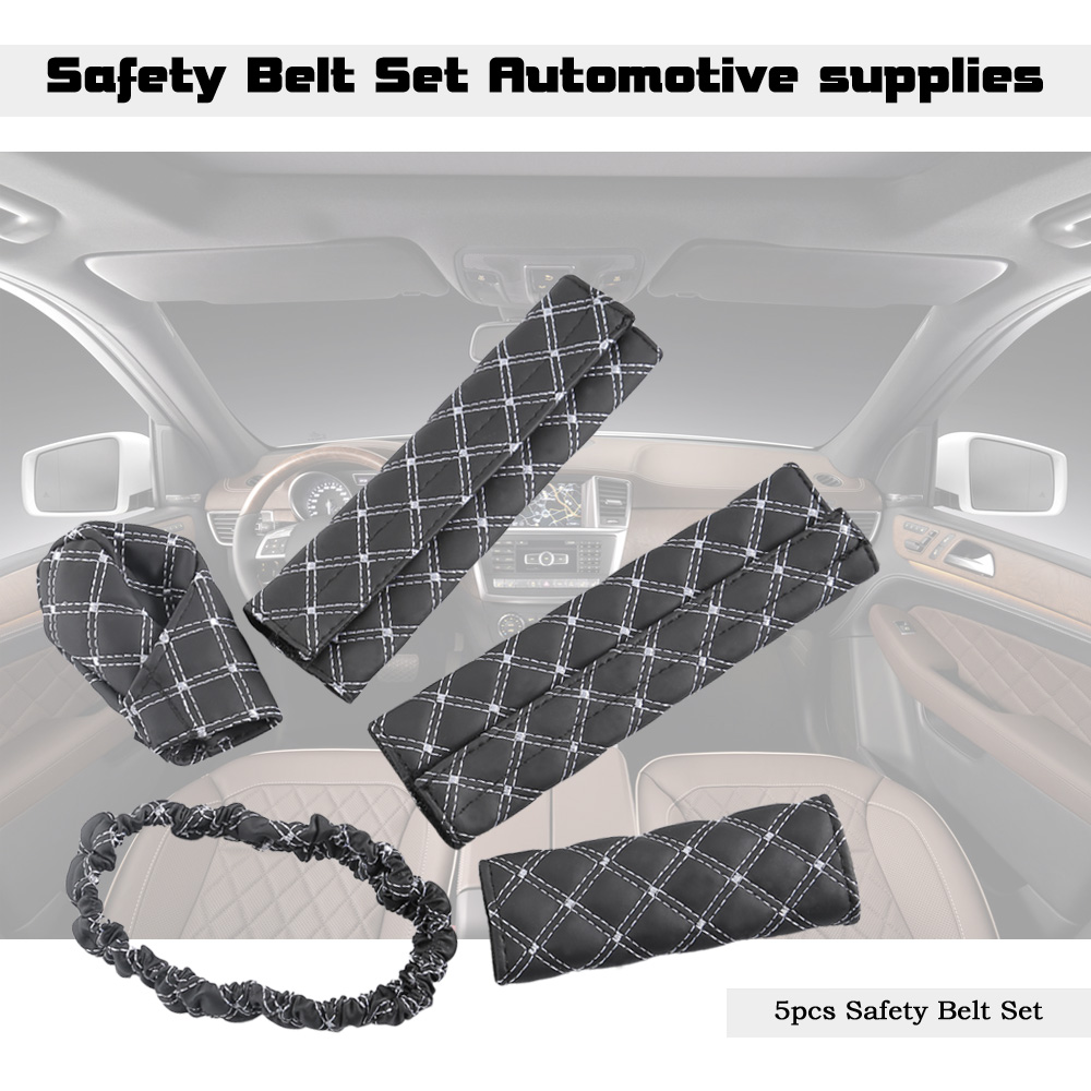 Automotive Hand Brake Gear Setting Safety Belt Rear View Mirror Cover