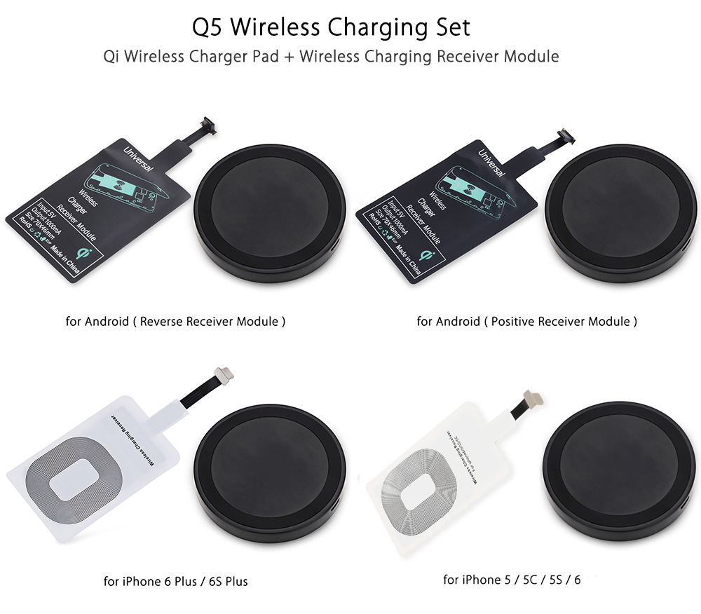 Qi Wireless Charger + Charging Receiver For Android Devices- Must Have Smartphone Accessories That You Can Get For Cheap