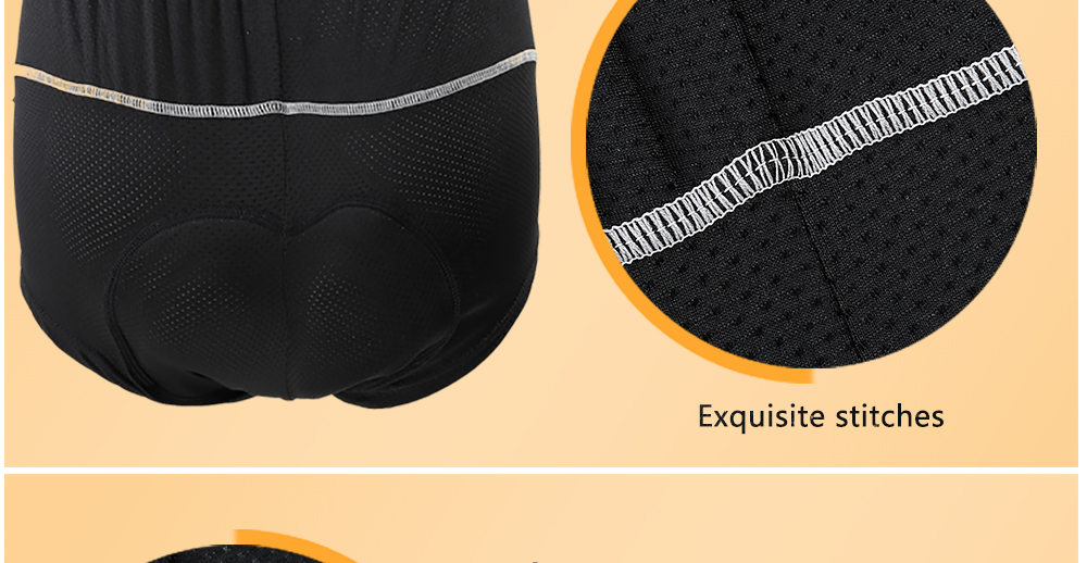 REALTOO Outdoor Silica Gel Padded Men Breathable Mesh Shorts for Cycling Biking