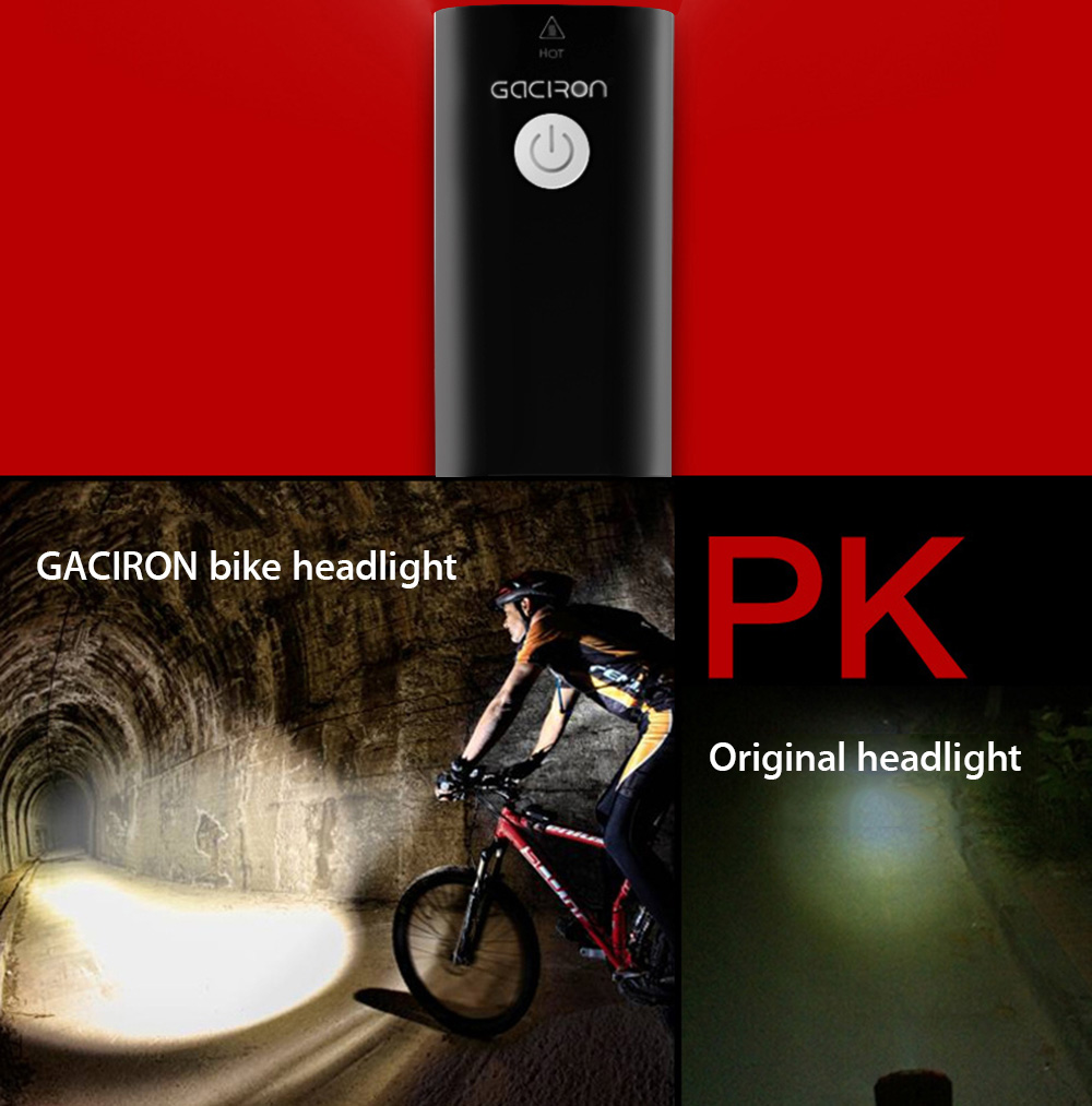 Gaciron V9 Usb Rechargeable Bike Front Flashlight Headlight 2359 Pocket Wiring Charging Port Free Image About Diagram And Waterproof Handlebar Torch Cycling Led Light Bicycle Accessories
