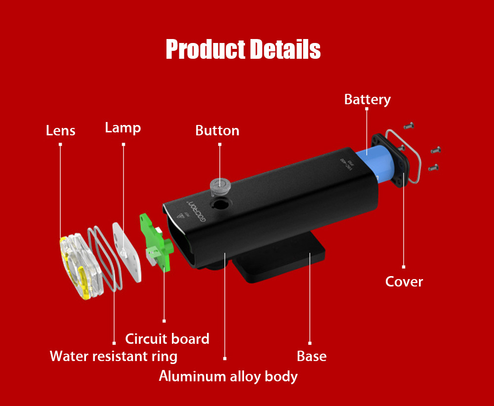 Gaciron V9 Usb Rechargeable Bike Front Flashlight Headlight 2359 Led Schematic Circuit Waterproof Handlebar Torch Cycling Light Bicycle Accessories