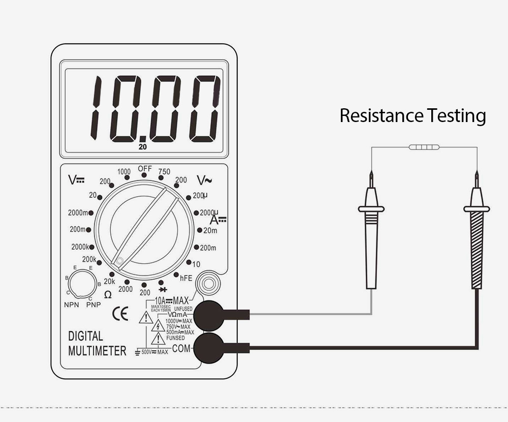 Whdz Dt700b Digital Multimeter Voltmeter 751 Free Shipping How To Use A Dmm Using Radioelectronicscom Ac Dc Tester Black