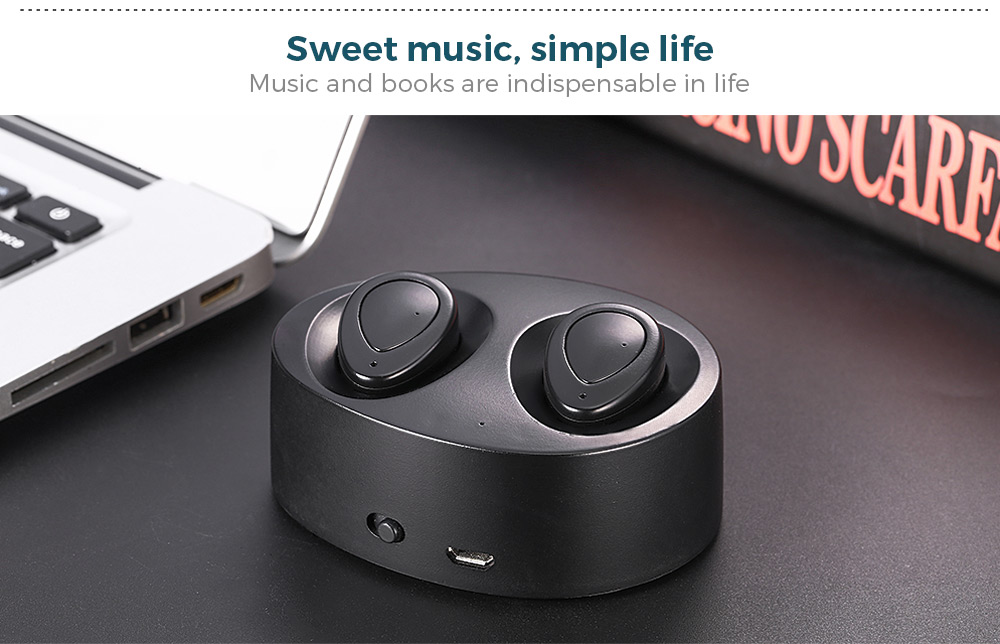 TWS - K2 Wireless Bluetooth Earbuds Stereo Wireless Pairing Mode Noise Canceling Hands Free