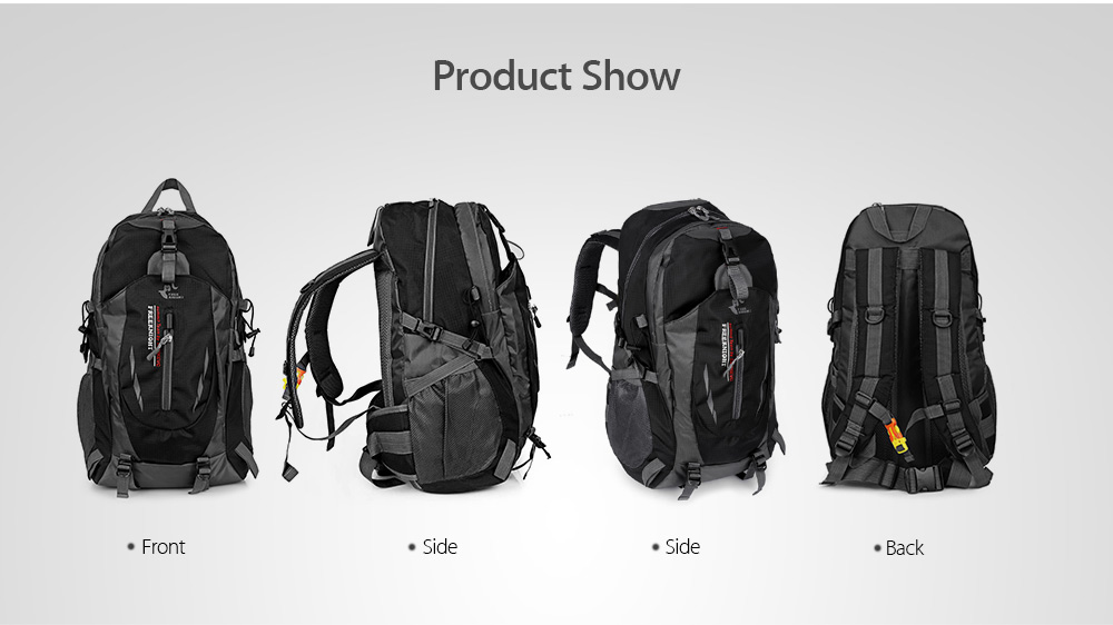 Free Knight Outdoor Hiking Rucksack Water Resistant Fabric Backpack Travel  Necessity Bag- Black 64a8d6c63