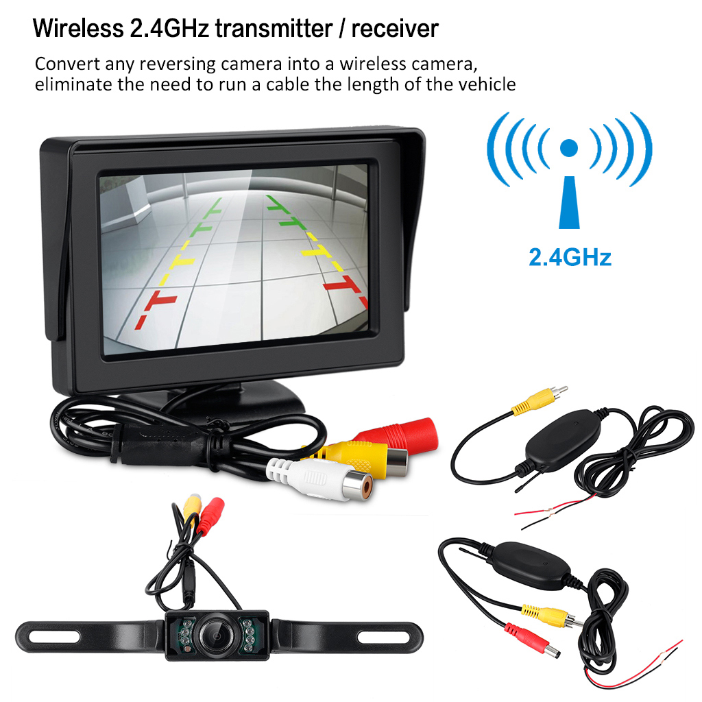 GearBest USA: WD - 403SY Car Vehicle Backup Camera Wireless Monitor ...