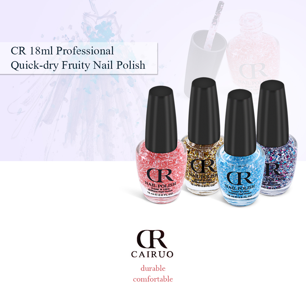 Cr 18ml Professional Quick Dry Fruity Nail Polish 2 28 Free