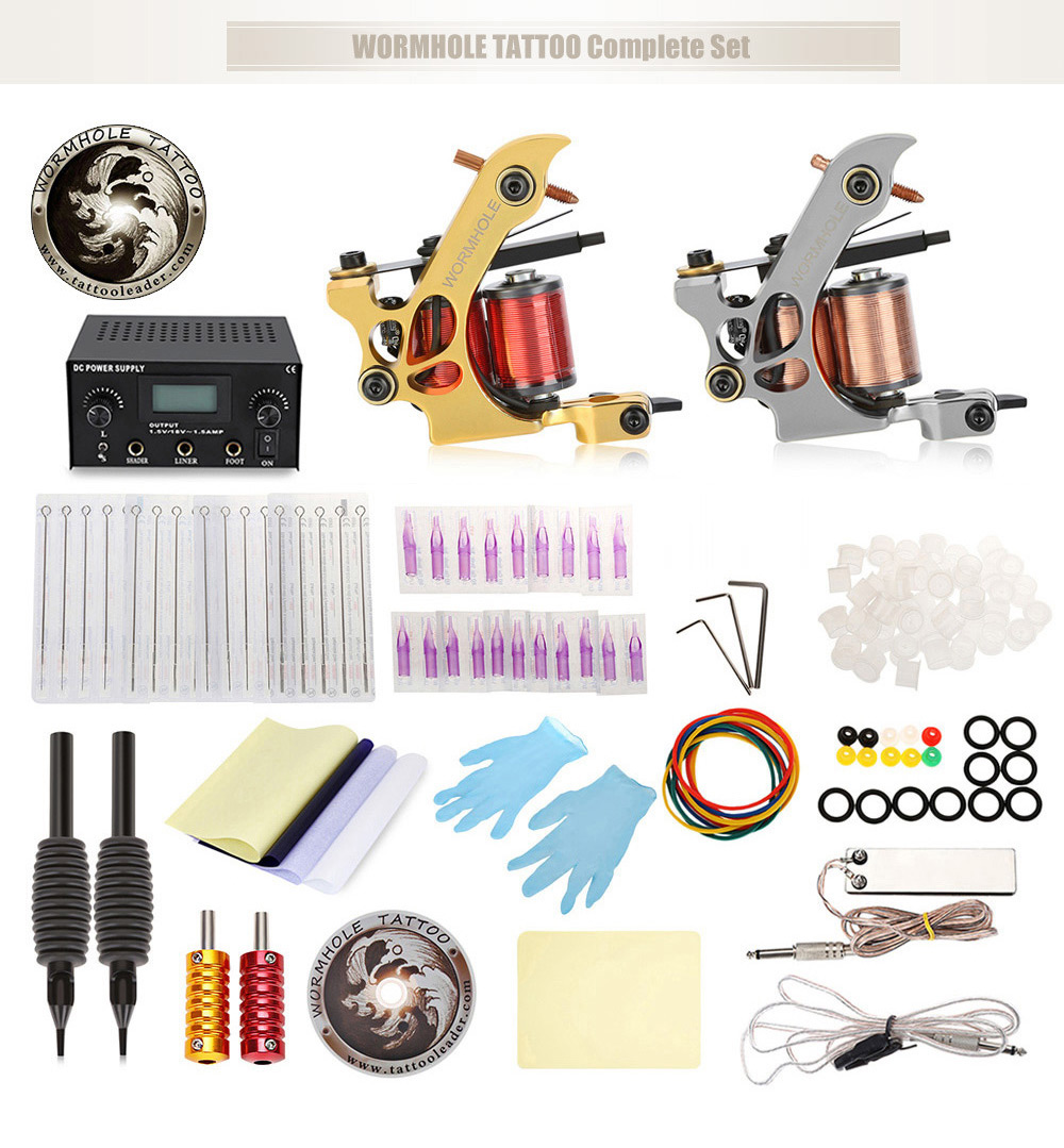 Wormhole Tattoo Complete Set 5203 Free Shipping At Pc Power Supply 1 Electronic Circuit By Levone X Practice Skin Cable Cd Transfer Paper 50 Small Pigment Cup Large 2 5rt Grip Tube