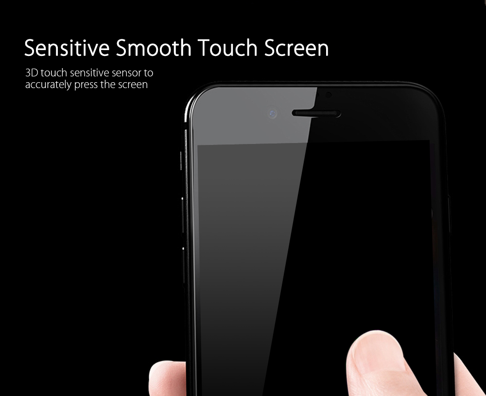 Baseus Tempered Glass Silk-screen 3D Arc Full Edge Coverage Protective Film for iPhone 7 Plus 0.3mm